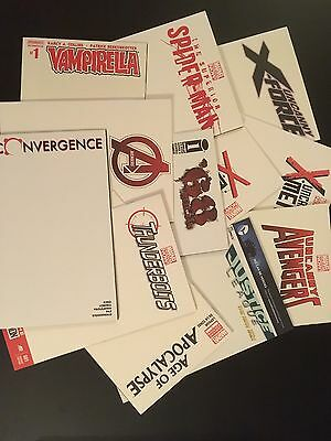3x Blank Cover VARIANT Lot - DC MARVEL OTHER 1st Print SOLD OUT