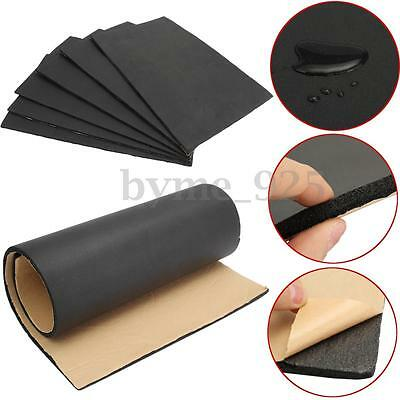 6 Sheets Car Sound Proofing Deadening Insulation 7mm Rubber Closed Cell Foam