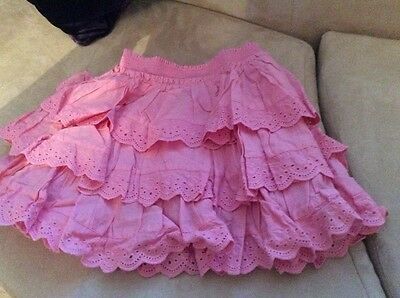 Next girls pink drindle skirt - age 6
