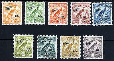 NEW GUINEA KG V 1931 Bird of Paradise Overprinted Air Mail SG 163 to SG 171 MINT