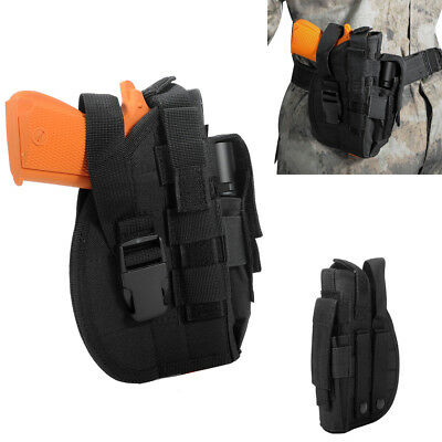 Molle Gun Pistol Belt Holster with Mag Pouch for Right Hand 1911 45 92 96 Black