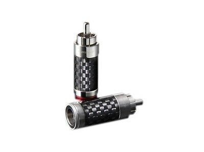 Furutech Cf-126 Carbon Fibre / Stainless Steel Rca Connector