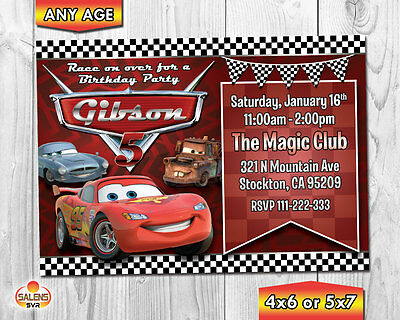 Cars Birthday Party Invitation