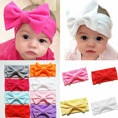 Baby Girl Big Bow Hairband Soft Elastic Headband Gifts Hair Newborn Band 2016 CL
