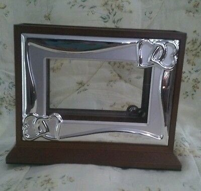 """Lenox Wedding Promises 4""""x 6 Frame Picture Holder Silverplated/Wood Giftware"""