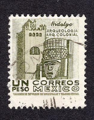 1950 Mexico 1p Actopan Convent and Carved Head SG 1346f FINE USED R20178