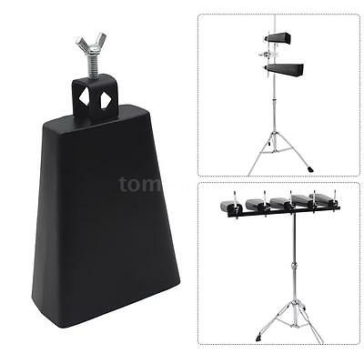 6Inch Iron Cow-bell Percussion with Clapper for Drum Set Kit Accessory H6D2