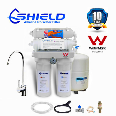 7 Stage Alkaline Reverse Osmosis Water Filter System  RO Membrane SUS304 Tap