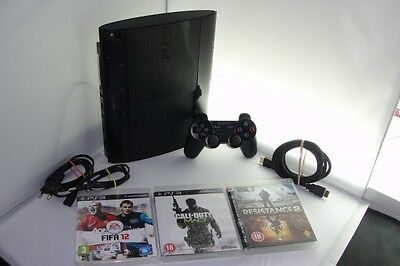 Playstation 3 PS3 Slim Console 500 GB GO Controller Manette + 3 Games Jeux 4175