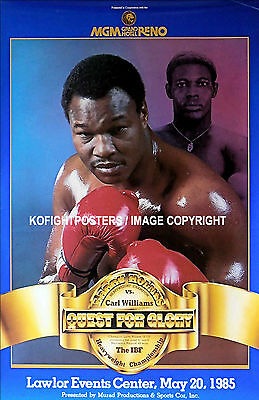 LARRY HOLMES vs. CARL WILLIAMS / Original Onsite Vintage Boxing Fight Poster
