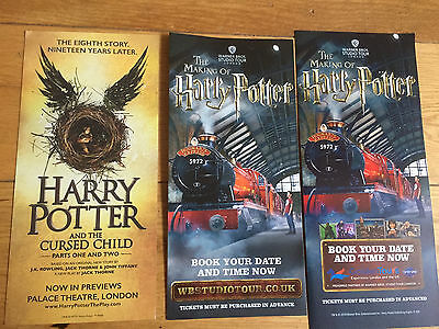 Harry Potter And The Cursed Child-New The Making Of Harry Potter Tour Flyers