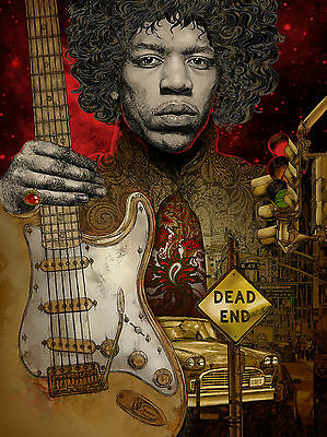 Hendrix - original  limited edition art print - signed with certificate unframed