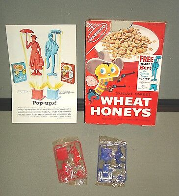 Mary poppins Nabisco wheat honey cereal packet mary/ bert toys +advert 1964 rare