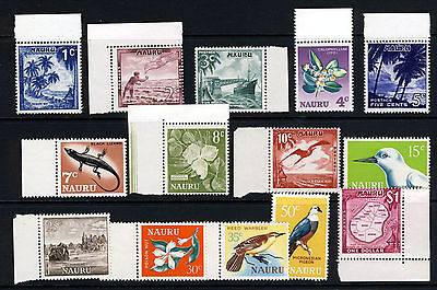 NAURU 1966 The Complete Decimal Currency Set SG 66 to SG 79 MNH
