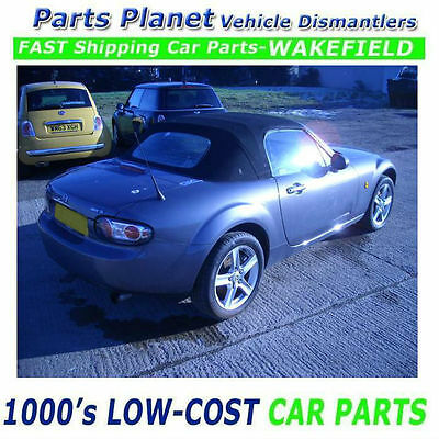 06 Mazda Mx-5 Convertible Opening Roof Hood Soft Top Cabriolet Folding & Glass