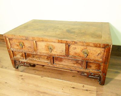 Antique Chinese Coffee Table (5744), (Low-Legged Desk), Cypress, Circa 1800-1849