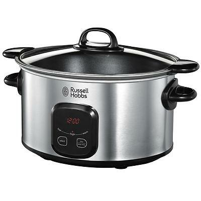 Russell Hobbs 22750 Non Slip Stainless Steel Extra Large 6L Digital Slow Cooker