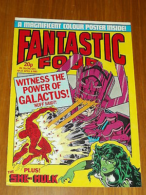 Fantastic Four #27 Marvel British Weekly 6 April 1983 Galactus She-Hulk