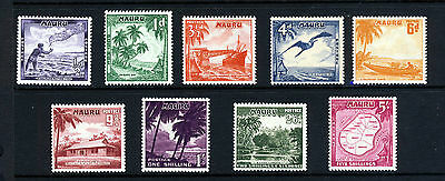 NAURU 1954 to 1965 The Complete Pictorial Set SG 48 to SG 56 MINT