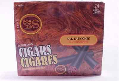 Licorice Old Fashion Black Licorice Cigars with Authentic Look Red Glow Tip...