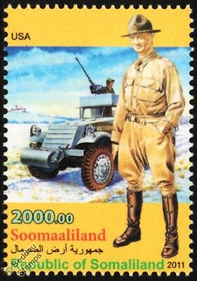 WWII US Army Officer 1st Cavalry Division Uniform Stamp / M2/M3 Half-Track APC