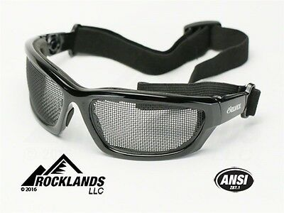 Elvex Air Spec Fog Proof Safety Glasses Stainless Steel Mesh Z87.1