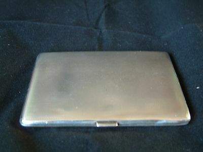 Vintage, Silver, Engine Turned Cigarette Case London 1928 Good Condition.