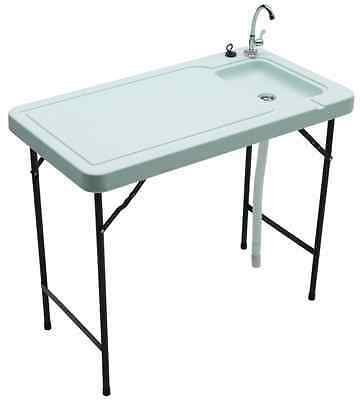 Tricam MT-2 Outdoor Fish and Game Cleaning Table with Quick-Connect Stainless St