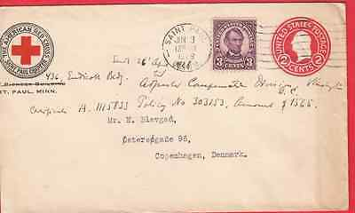 US Red Cross Postal Stationary with Lincoln Commemerative 3 cent stamp
