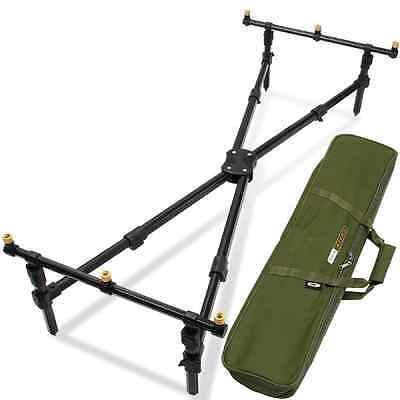 ROD POD CARP FISHING LOW CROSS POD WITH DELUXE CASE NGT REST free Postage