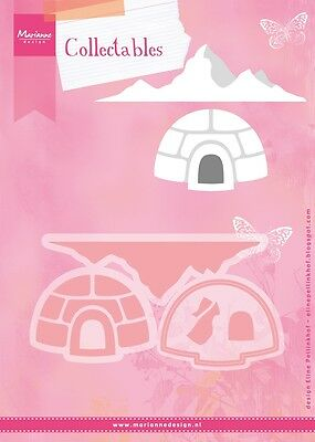 Marianne design collectables die set ELINES Igloo & mountain COL1417