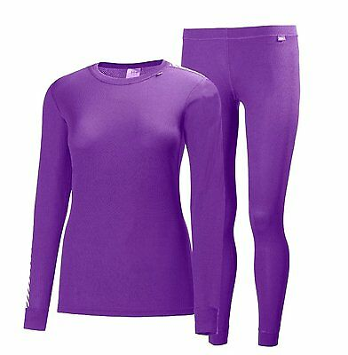 Helly Hansen Womens Comfort Dry 2 Pack Base Layer Purple