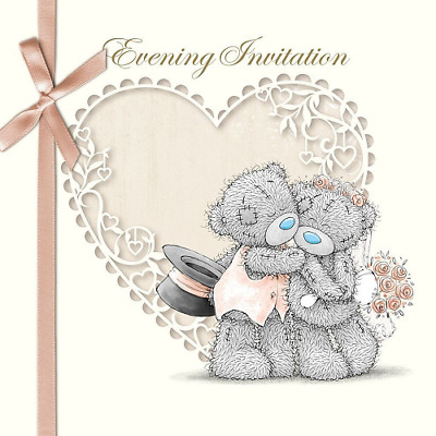 Me To You Pack Of 6 Evening Invitation Wedding Day Card Tatty Teddy Bear New