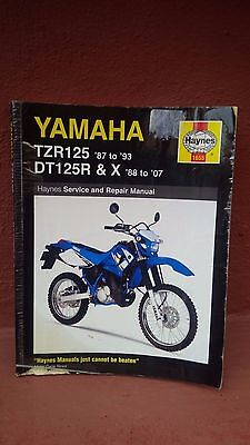 haynes yamaha workshop manual TZR125 87 to 93 DT125R & X 88 to 07