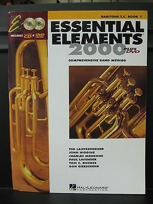 ESSENTIAL ELEMENTS 2000 Baritone T.C. Book 1 with Play-Along CD & DVD for BAND