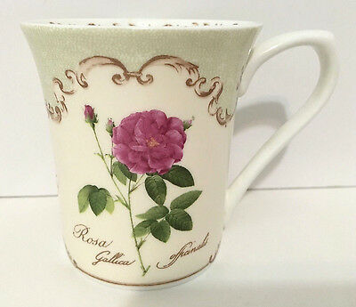 Vintage Royal Horticultural Society Queens REDOUTE ROSES Fine Coffee Tea Mug EUC