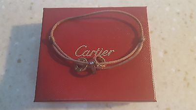 Auth Cartier Love Bracelet with 3 rings