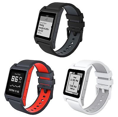 Pebble 2 Heart Rate Smartwatch Black / White / Charcoal