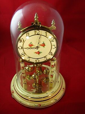 Kundo Keininger & Obergfell Anniversary Floral Clock- Glass Dome - Spares/repair