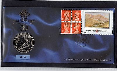 GB 1998 Prince of Wales Booklet Pane Coin Cover 16256