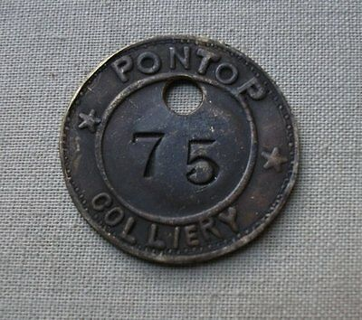 Durham PONTOP (CLOSED 1927) Colliery Lamp Pit Check Token