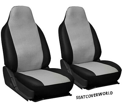 JEEP GREY/BLACK LEATHERETTE SEAT COVERS Grand Cherokee Patriot Renegade Wrangler