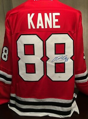 Patrick Kane Autographed Chicago Black Hawks Licensed Official Jersey (JSA)