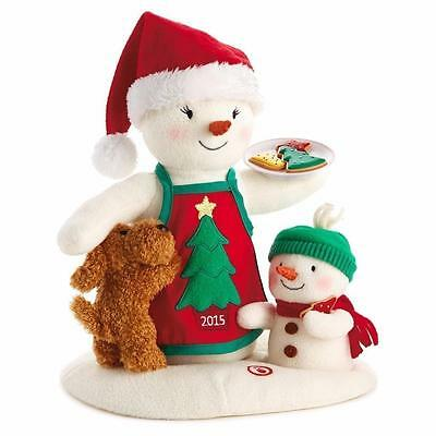 Hallmark 2015 Time For Cookies - Snowman and Puppy Dog Animated Plush Singing