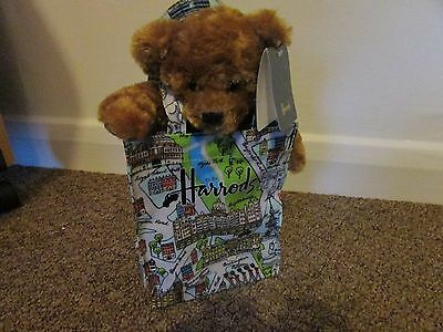 Harrods bear in a London attractions bag New with tags and free postage