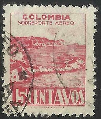 WW0422 Colombia Stamp Used 15c Air Mail