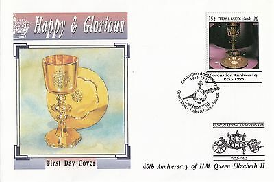 (94964) Turks & Caicos Queen Coronation 40 years 2 June 1993