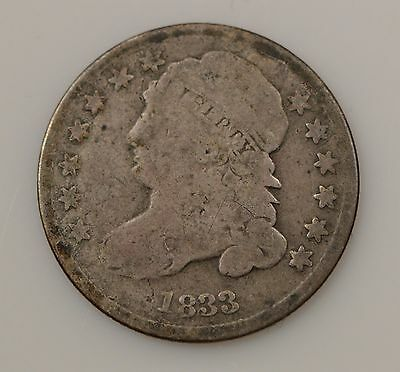 1833 Capped Bust Silver Dime *G83