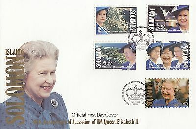 (94941) Solomon Islands FDC Queen 40 years Accession 6 February 1992