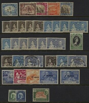 Aden 1937 - 1949 MH / Used Some Duplication CV $45.50
